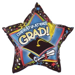 "Congratulations Grad! Hat 20"" Mylar Balloon"