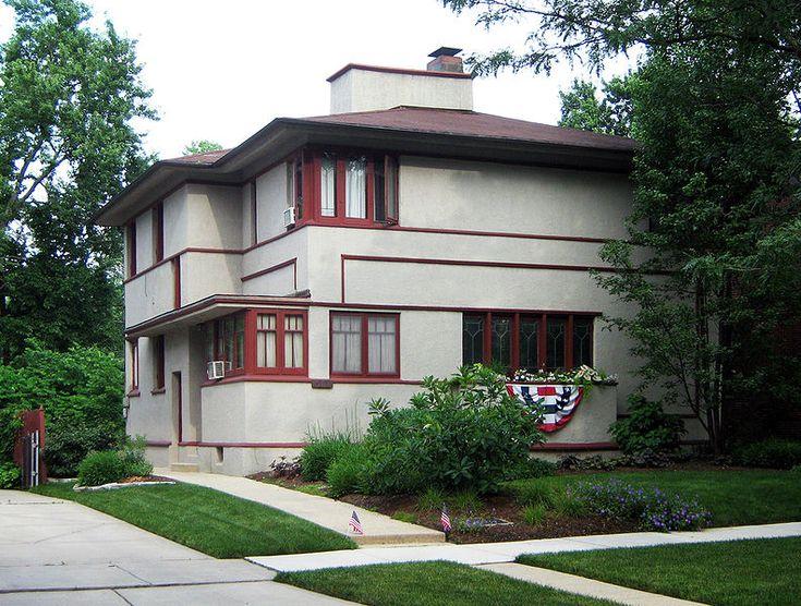 H Howard Hyde House American System Built Home/ Prairie Style. 1917 Frank  Lloyd Wright