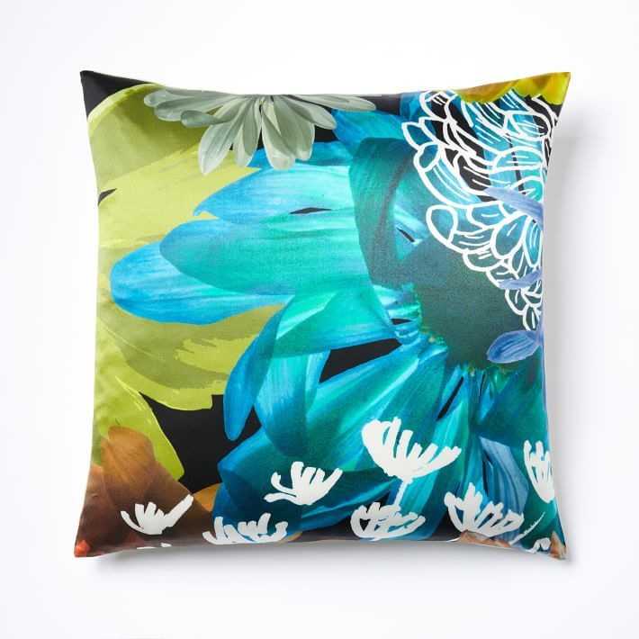 Floral Collage Silk Pillow Cover