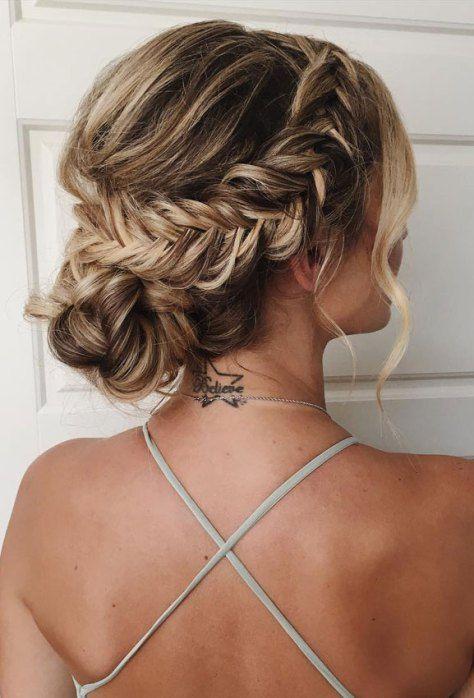 updo sans effort, idées de coiffure de mariage, chignons de mariée, mariage … – Hochzeitsfrisuren