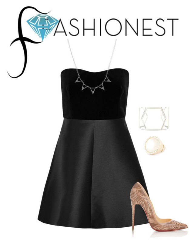 """""""Fashionest: Trendy Fashion Jewelry/Contest with prize!"""" by rebelmix ❤ liked on Polyvore featuring RED Valentino and Christian Louboutin"""