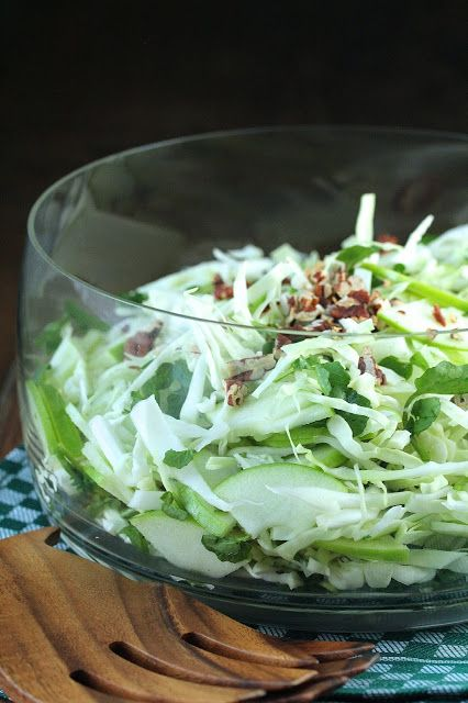 Green Cabbage, Apple, Fennel, Watercress, and Pecan Salad