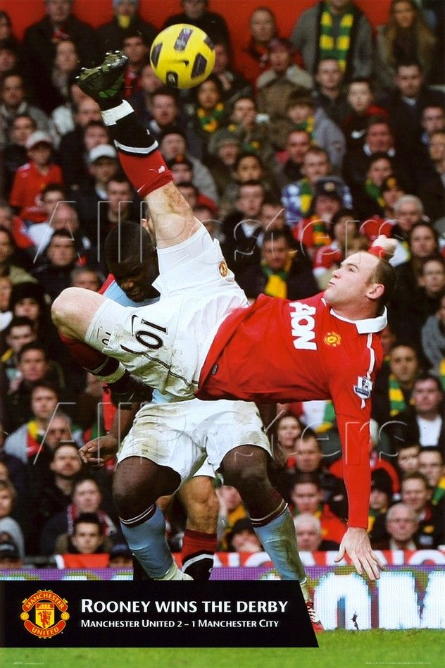 Manchester United - Rooney Goal Photo - at AllPosters.com.au
