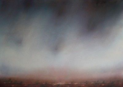 Evening Haze by Jonathan Speed  (Oil on Linen, 100x70cm) £1,600  Lacey Contemporary Gallery Notting Hill London  Landscape Painting