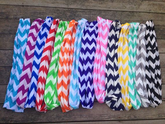 Sale Chevron Infinity Scarves YOU PICK ONE by SweetCarolineCrafts