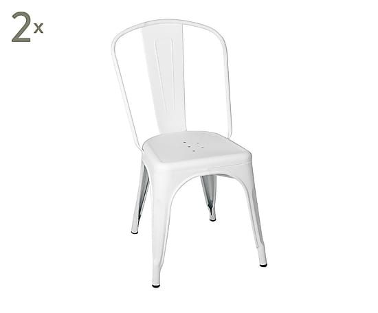 Set di 2 sedie in metallo Ant bianco - 35x85x35 cm