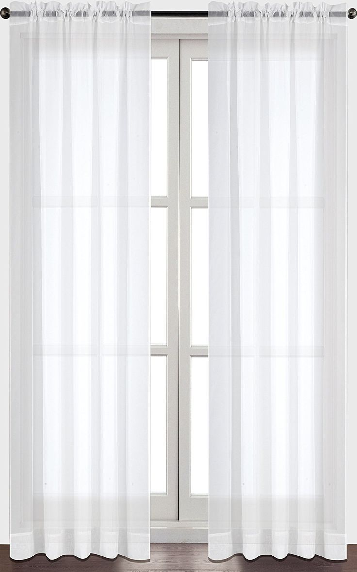 1000 ideas about white sheer curtains on pinterest