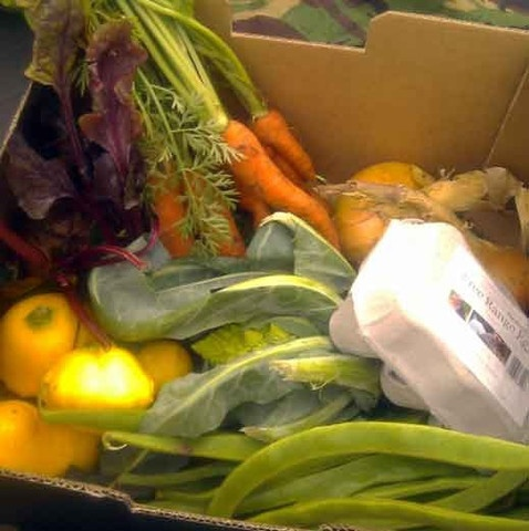 Small veg box: thanks to the fabulous team at Church Farm, we get this delivered weekly. It tastes amazing.