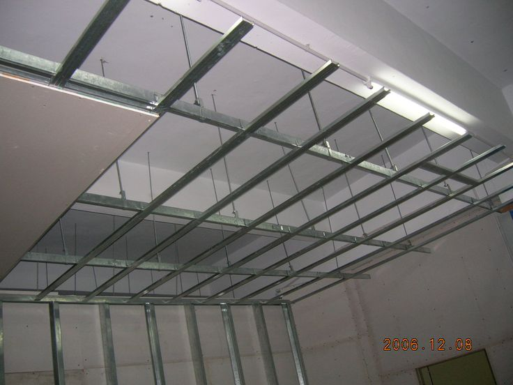 Metal Suspension System With Gypsum Board For Building