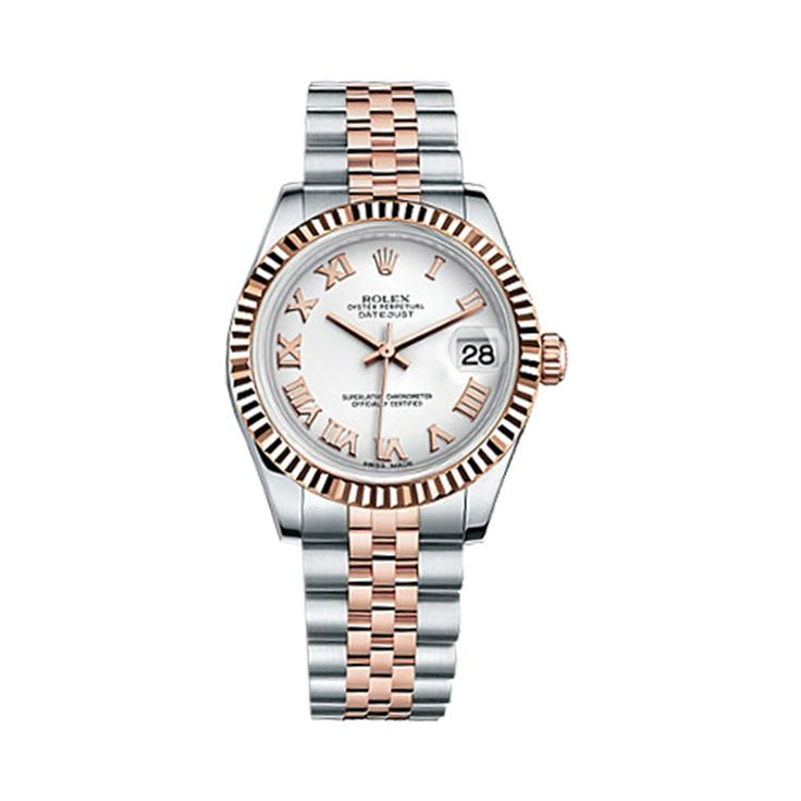 #Rolex Lady-Datejust Rose Gold & Stainless Steel #Watch