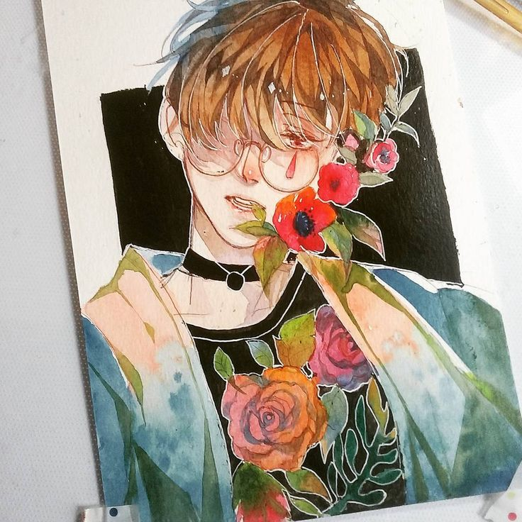 "11.3k Likes, 71 Comments - Jeff Violet (@kimochika) on Instagram: ""Flowers :'( im in artblock"""