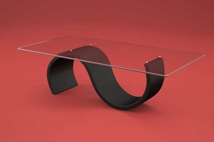 Articolo 416-35     Tavolino da salotto Crono - Finitura: laccato nero opaco - Misure: cm 110 x 65  - Altezza: cm 38 - Peso: Kg. 42 - Vetro: rettangolare -  temperato - extrawhite - filo lucido - spessore 1 cm