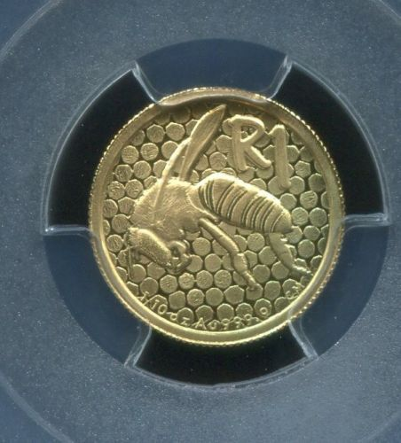PCGS-SECURE-SOUTH-AFRICA-2011-R1-AFRICAN-HONEY-BEE-PR70DCAM-GOLD-COIN-FREE-SHIP