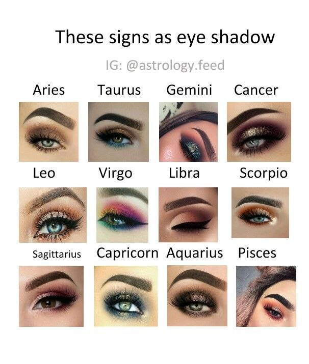 Look Like Your Zodiac Sign Eye Make Up 2 Zodiac Sign Fashion