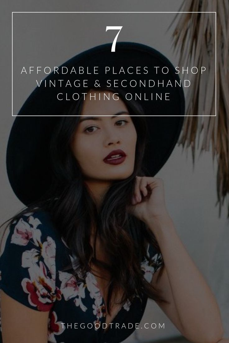 8 Online Thrift Stores For Affordable Vintage Secondhand