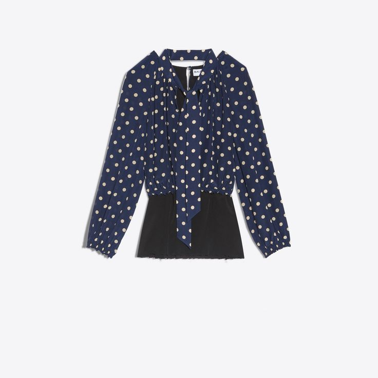BALENCIAGA Misplaced Lavalliere Blouse Tops D f