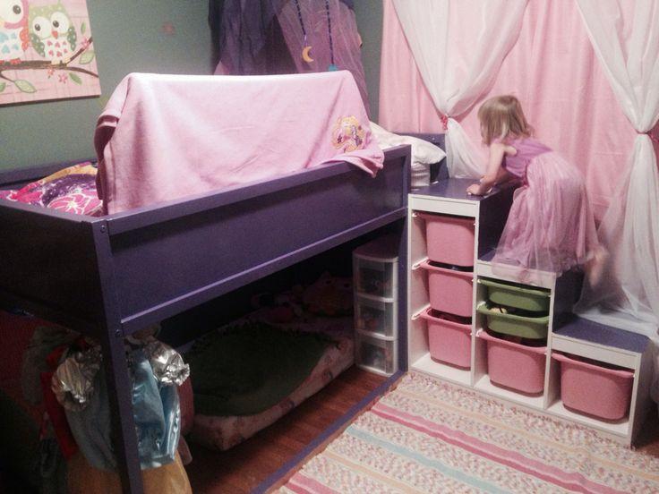 My Daughters Bedroom Ikea Hack With Kura Bed And Trofast