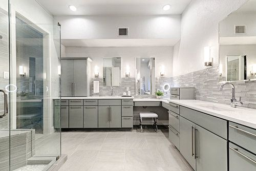 Modern Bathroom Remodel Pig and Tiger Renovation Plano TX ...