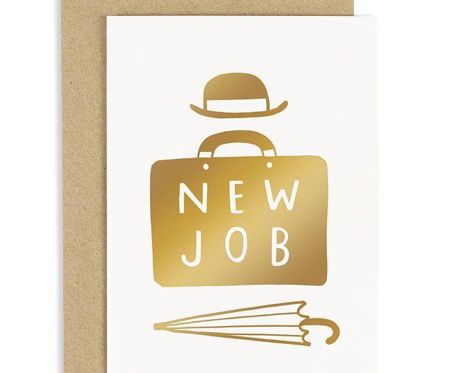 Nuovo lavoro carta - lavoro Card - biglietto di congratulazioni - lamina d'oro - CC261