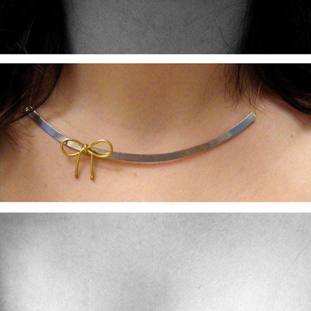 bow necklace, ribbon necklace, bow sterling silver, wedding necklace, gold plated bow