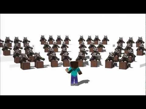 приколы майнкрафт , Minecraft танцы 3 зомби 1 крипер  много коров и 1 челбик . приколы майнкрафт