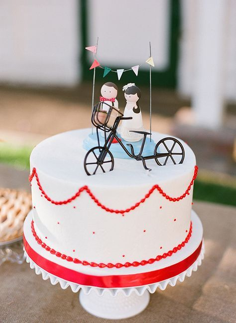 carnival wedding cake - photo by Valentina Glidden Photography http://ruffledblog.com/brookside-equestrian-wedding