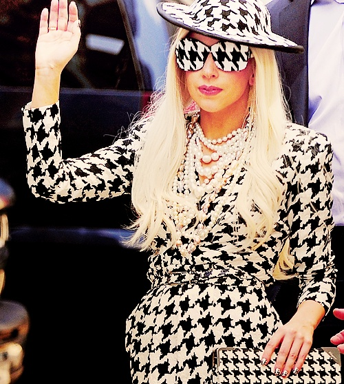 she wore this on on the View..  it was pretty obvious that she couldn't see through the glasses, wasnt lip syncing... and still could sing/ play piano.  impressive.