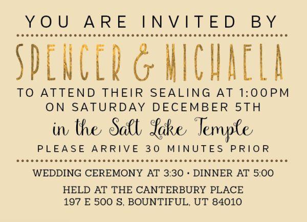 136 Best Lds Wedding Invitations Images On Pinterest Bridal