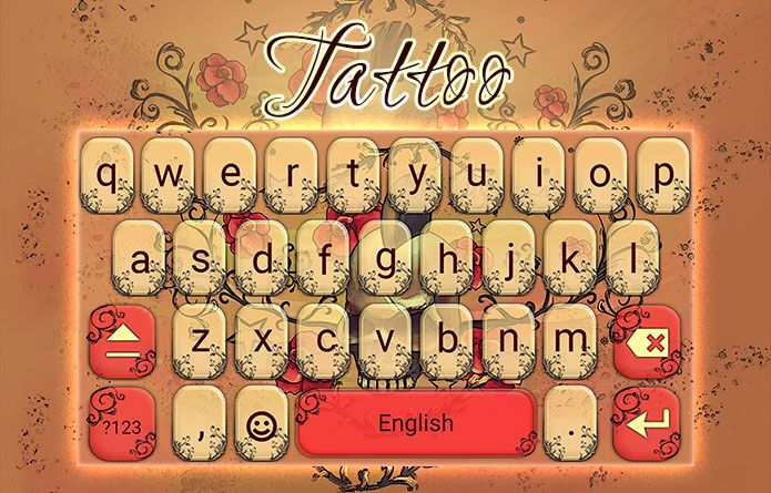 Tattoo Theme: Have this amazing tattoo theme for your Android keyboard phone! #android #theme #design #wallpaper #keyboard #technology #gadgets #design #redrawkeyboard #tattoo #art #identity