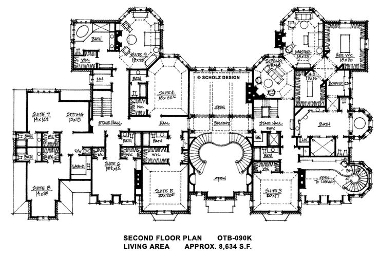 Floor plans for big mansions for Manor floor plans