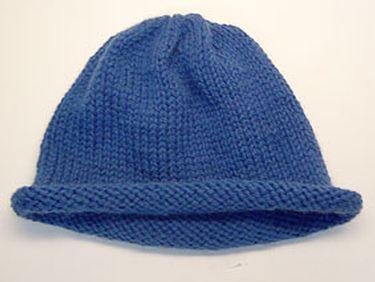 Free Knitting Pattern - Hats: Easy Peasy Hat