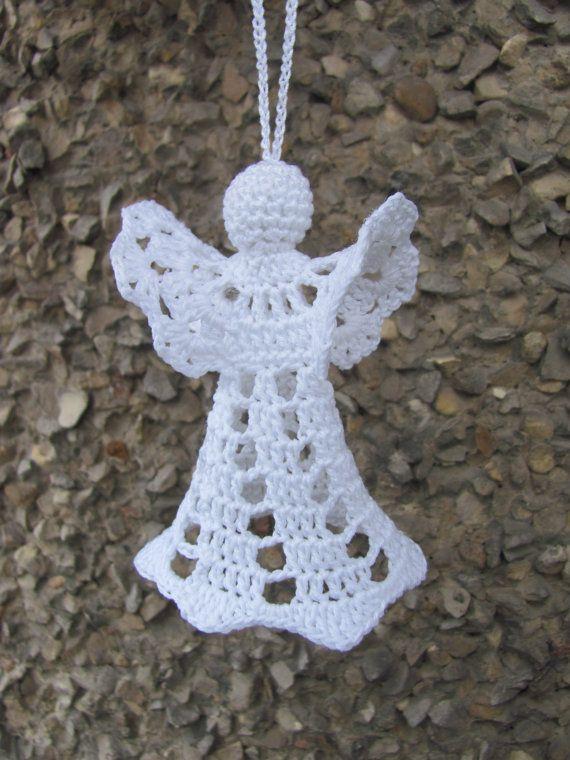 Crochet angel Christmas ornament Home decor A20 by InKasTrifles
