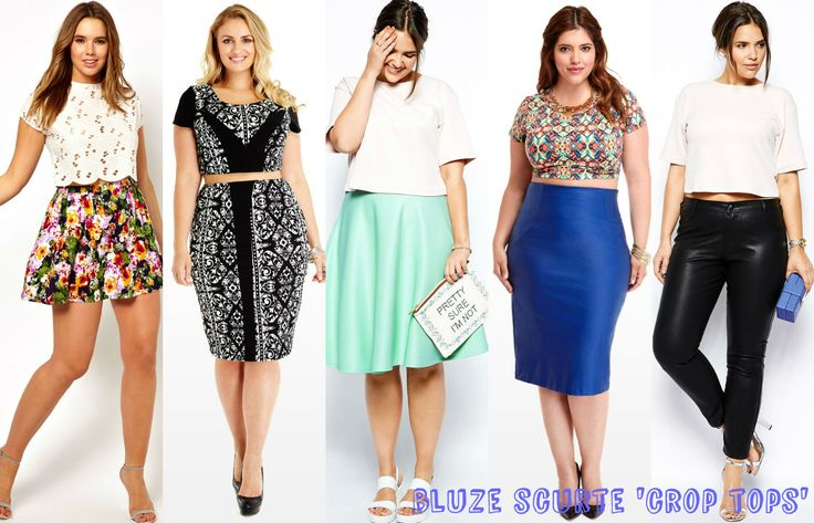 Latest #trends in #plussize fashion- Cropped tops. #style #fashion #curvy #clothing