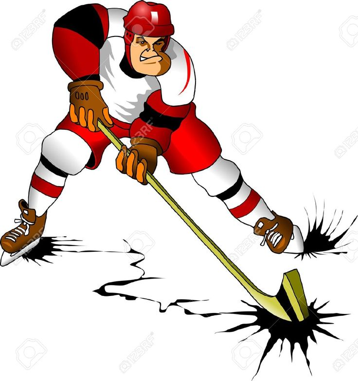 Hockey Player Makes A Strong Shot On Goal Rival; Royalty Free Cliparts, Vectors, And Stock Illustration. Image 12341564.