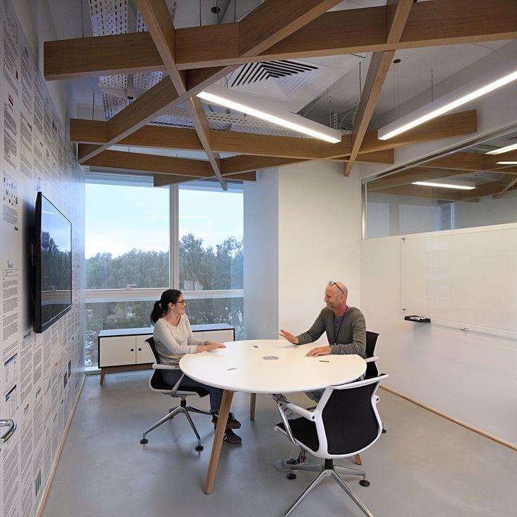 40 élégantes idées de design de bureau avec plafond ouvert