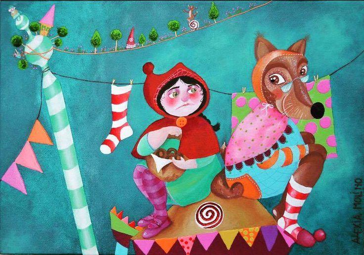 Alexia Molino - Cappuccetto rosso (35x50)
