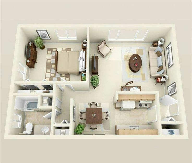24 best One bedroom house images on Pinterest