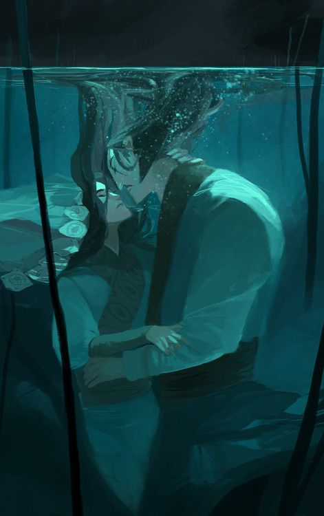the drowned | Sæglópur  Phobs' extremely beautiful mermaid comic inspired a lot of Batu and Subutai feelings… I had to draw them! Hope you don't mind.