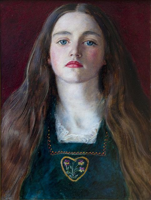 Portrait of Sophie Gray, 1857, John Everett Millais. She could be someone of today.