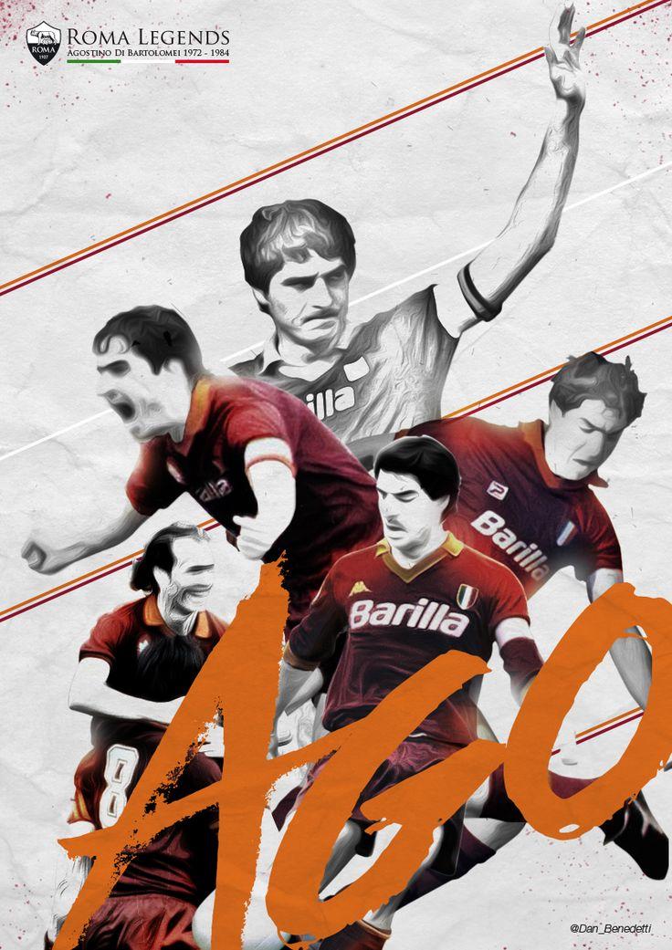 Roma Legends 1 - Agostino Di Bartolomei 1972 - 1984 #fanart