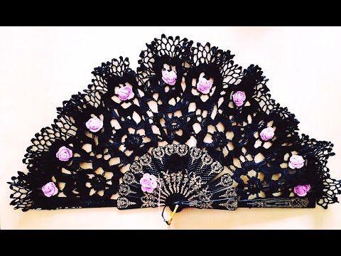 Tutorial Abanico Floral Tejido a Crochet Handmade Crochet FAN - YouTube