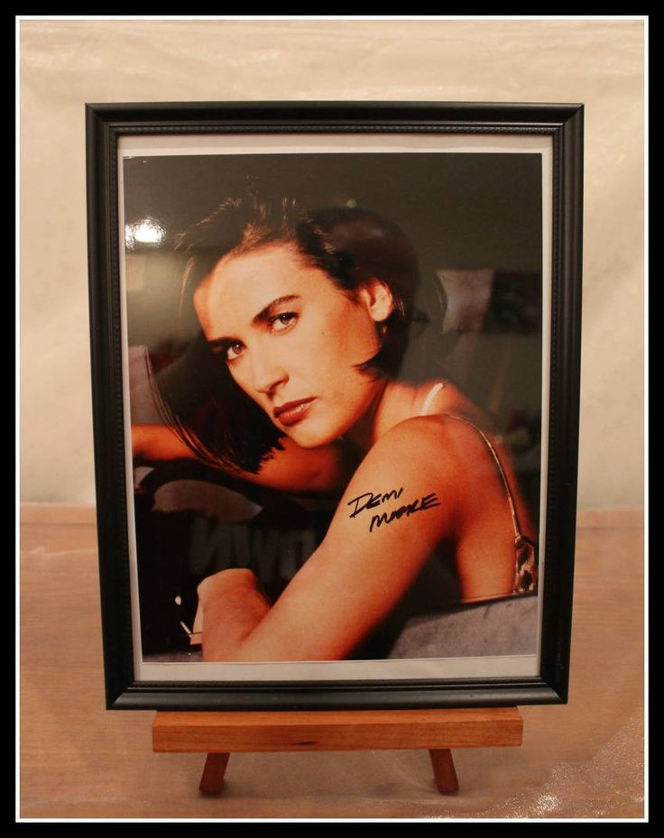 Autographed 8 X 10 Glossy Photograph of Actress Demi Moore, Color Photograph of Demi Moore, Celebrity Autograph, Ghost, GI Jane, Striptease by InfinityCreationsCo on Etsy