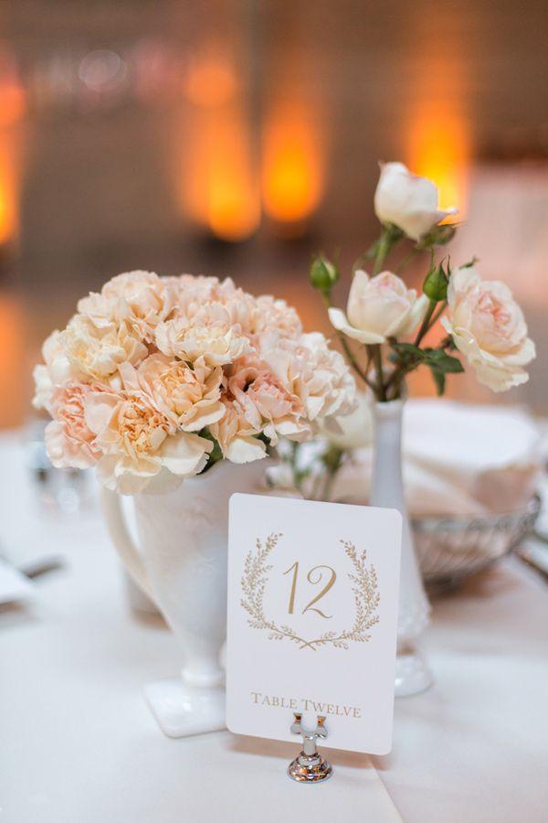 Centerpiece love (Florist: brownpaperdesign) - Industrial San Francisco Wedding captured by Christina McNeill - via ruffled