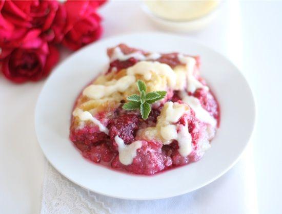love me some raspberry bread pudding