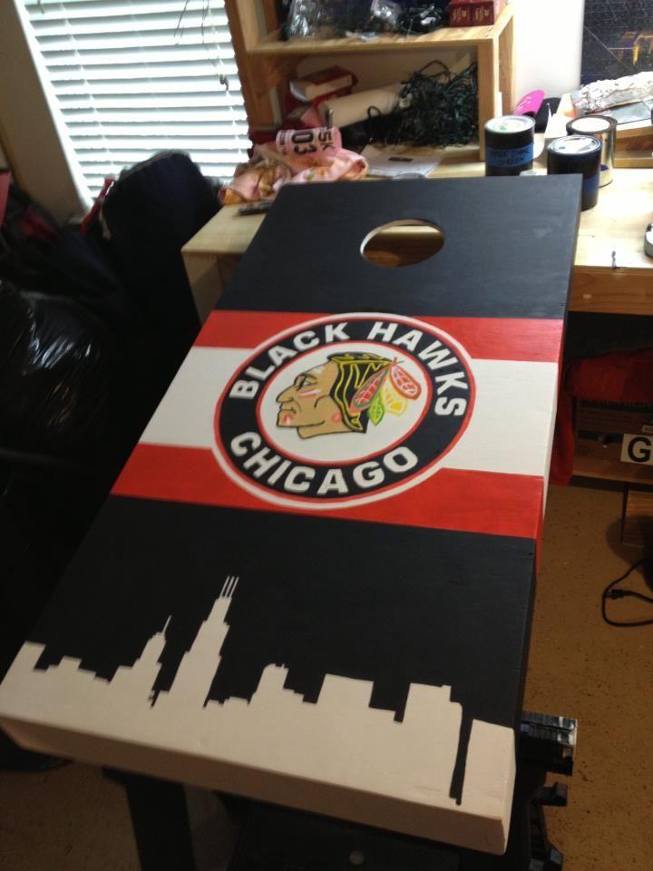Chicago Blackhawks Cornhole