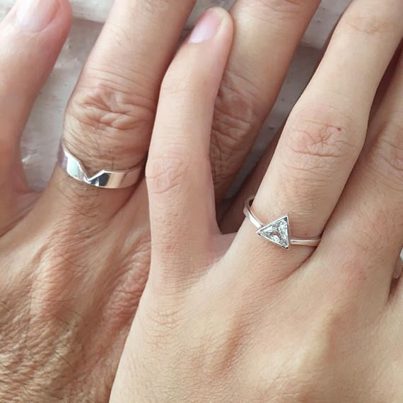 Matching Promise Rings, His and Her Promise Rings, Promise Rings For Couples, Promise Ring, Couple Ring Set, Wedding Ring Set, Personalized