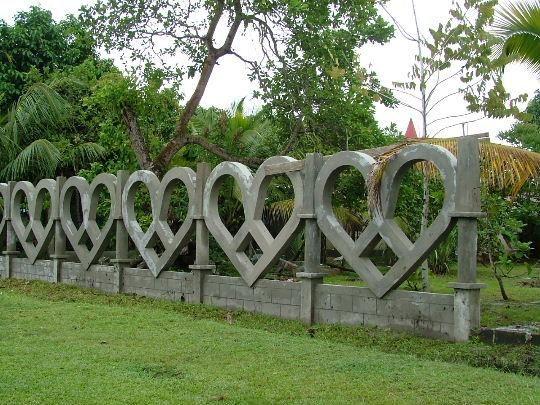 Heart-shaped fence...