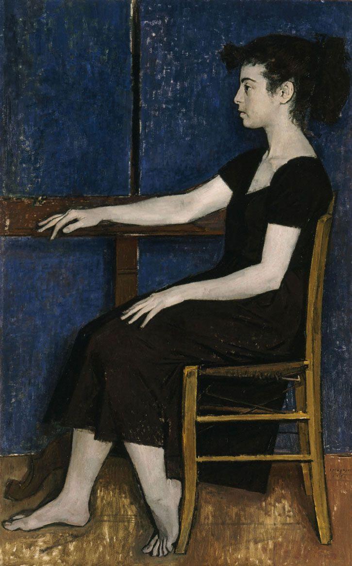 Portrait of Fani by Yiannis Moralis. Expressionism. portrait