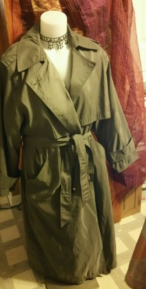 FORECASTER of BOSTON Olive Green All Women's Weather Coat Size 9/10 Petite VTG #ForcasterofBoston #BasicCoat