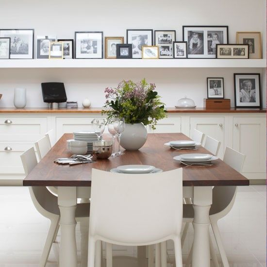 Love love love this idea with old black and white family photos